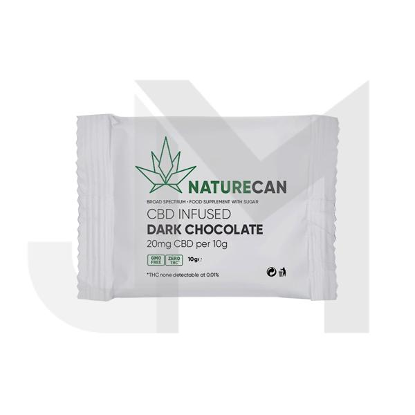 Naturecan 20mg CBD Infused Dark Chocolate 10g