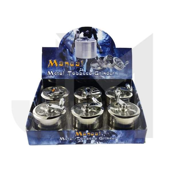 4 Parts Manual Metal Chrome 60mm Grinder HX060SY-4S