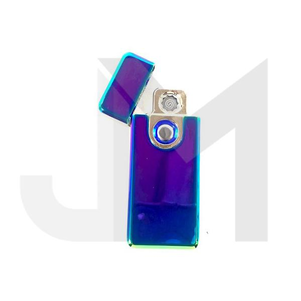 5 x GS USB Rechargeable Chrome Flip Lighter - 19497