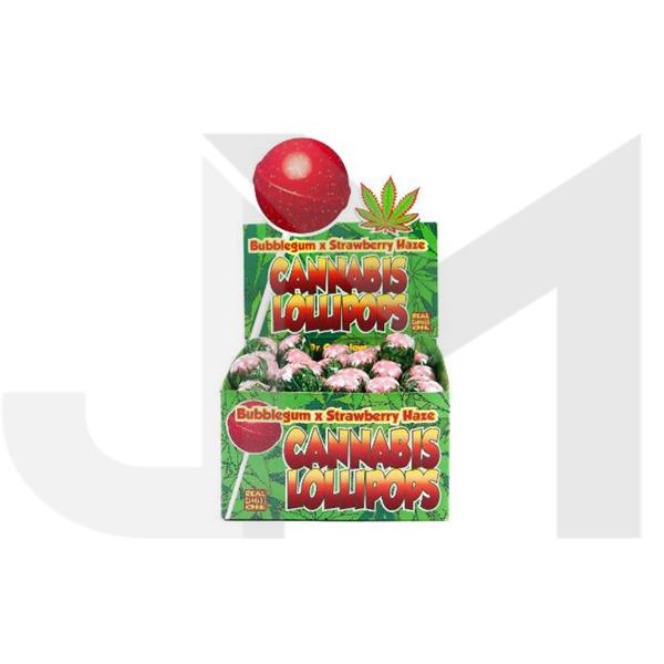 Dr Greenlove Cannabis Lollipops Strawberry Haze Flavour