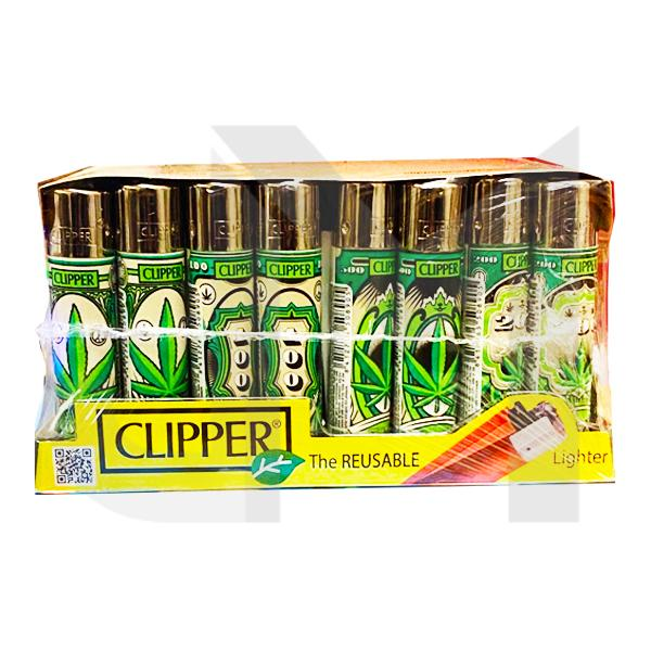 40 Clipper Refillable Printed Design Lighters