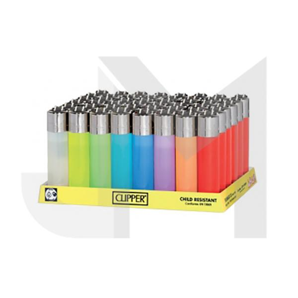 40 Clipper Fluorescent Colour Refillable Lighters