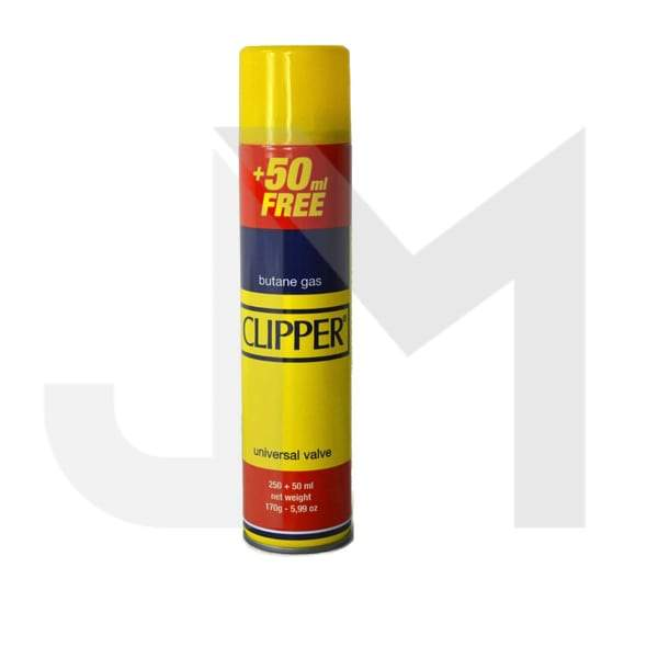 12 x CLIPPER 300ml Butane Gas with Adapter Cap