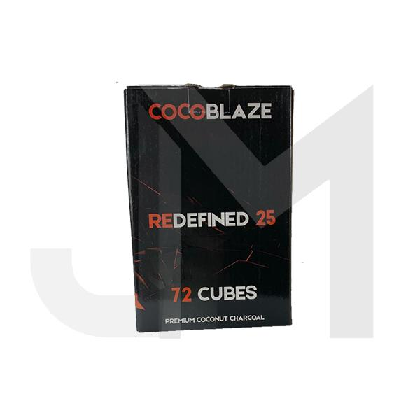 Coco Blaze Redefined 25 Charcoal 72 Cubes