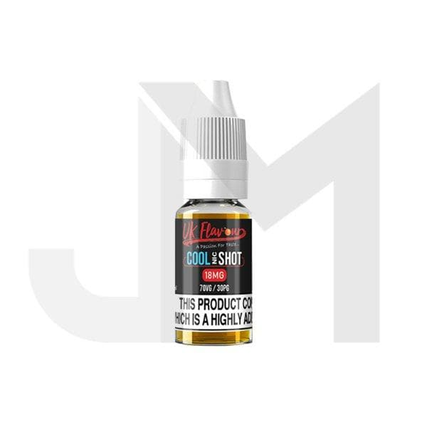 UK Flavour Nic Cool Shot 18mg 10ml (70VG/30PG)