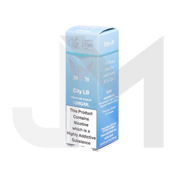 City Vape 6mg 10ml Flavoured E-liquid (30VG/70PG)