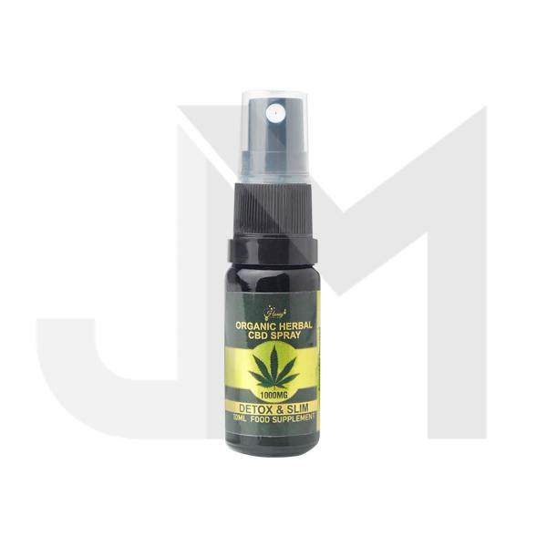 Honey Heaven 1000mg Detox & Slim Organic Herbal CBD Spray 10ml