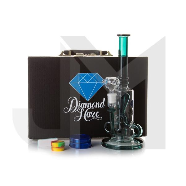 Diamond Haze Glass Bong Gift Set with Suitcase (Bong 1)