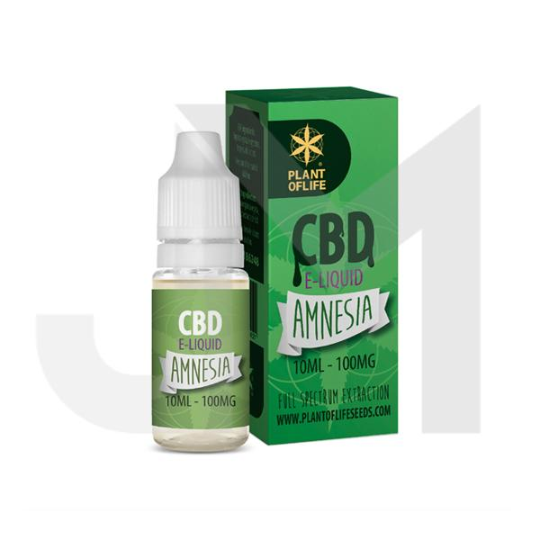 Plant Of Life 100mg CBD Vaping Liquid 10ml (50PG/50VG)