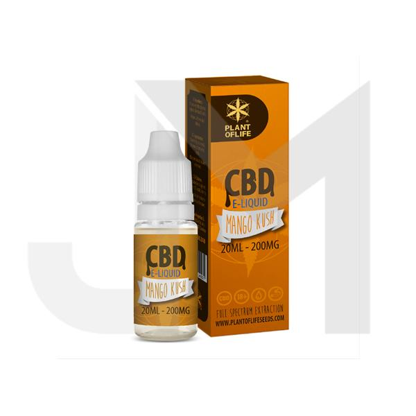 Plant Of Life 200mg CBD Vaping Liquid 20ml (50PG/50VG)