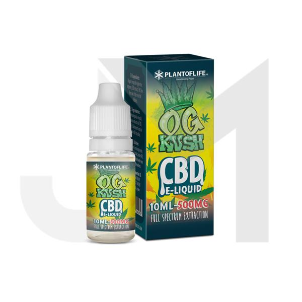Plant Of Life 500mg CBD Vaping Liquid 10ml (50PG/50VG)