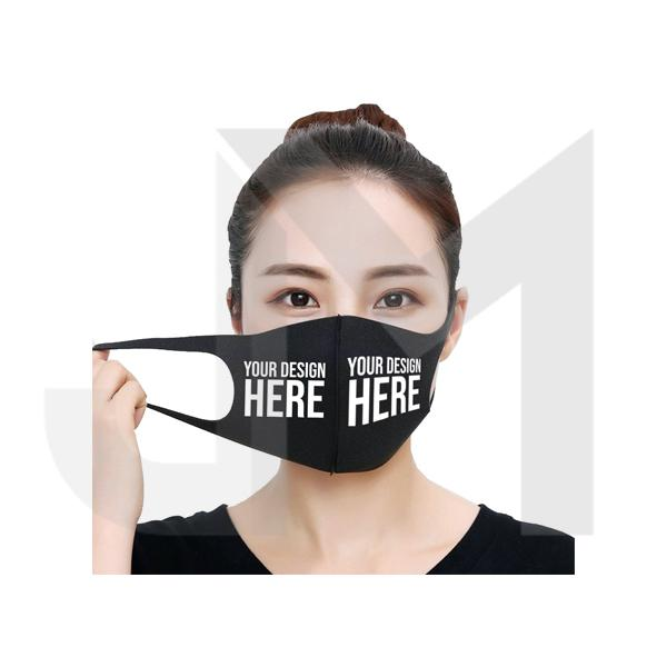 Custom Vinyl Printed Reusable Anti Dust Black Face Mask