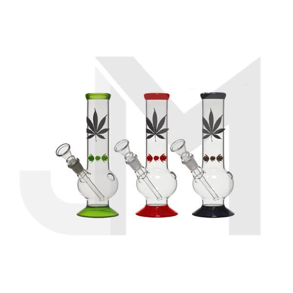 12 x 25cm Small Lead Design Glass Bong - GB42