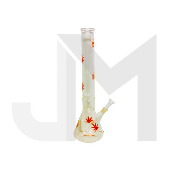 "16""  Leaf Designed Glass Bong - GB 11"