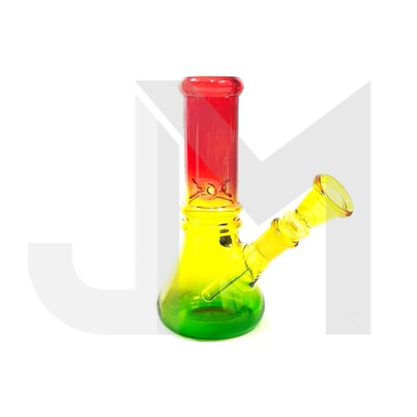"12 x 6"" Rasta Colour Small Glass Bong - GWP-50"