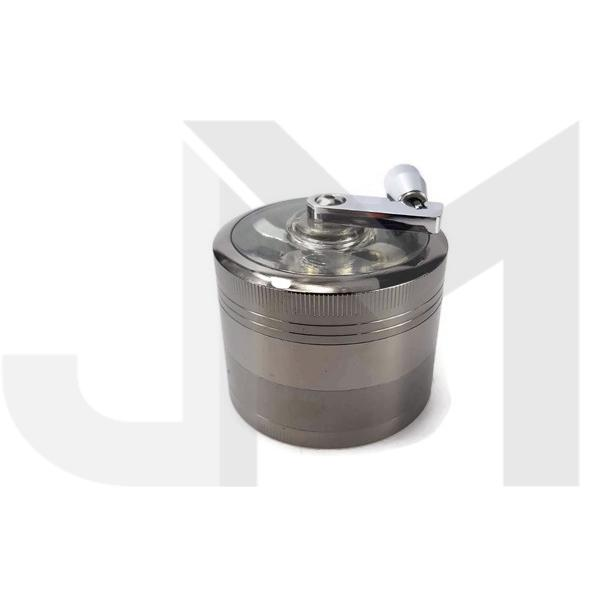 4 Parts Manual Metal Silver 60mm Grinder - HX060SY-4GR
