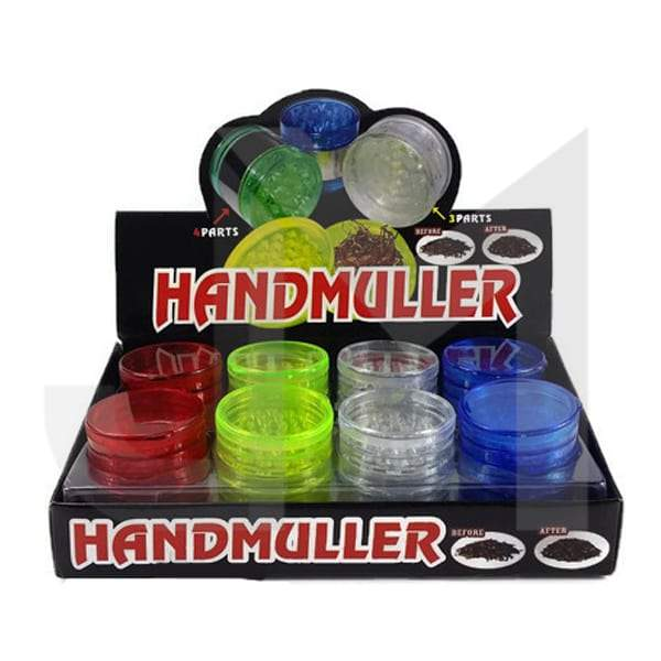 4 Parts Handmuller Plastic 55mm Grinder - HX223