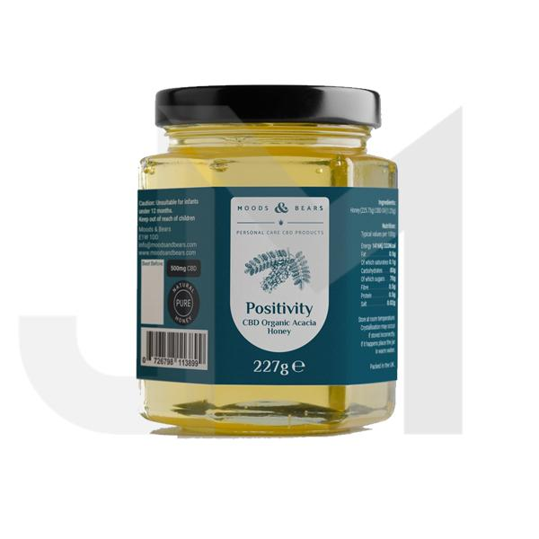 Moods and Bears 500mg CBD Natural Pure Honey 227g