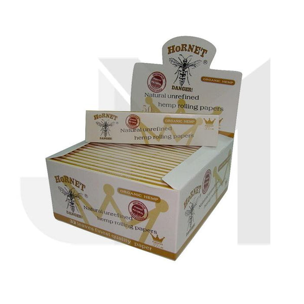 50 Hornet White King Size Organic Rolling Papers