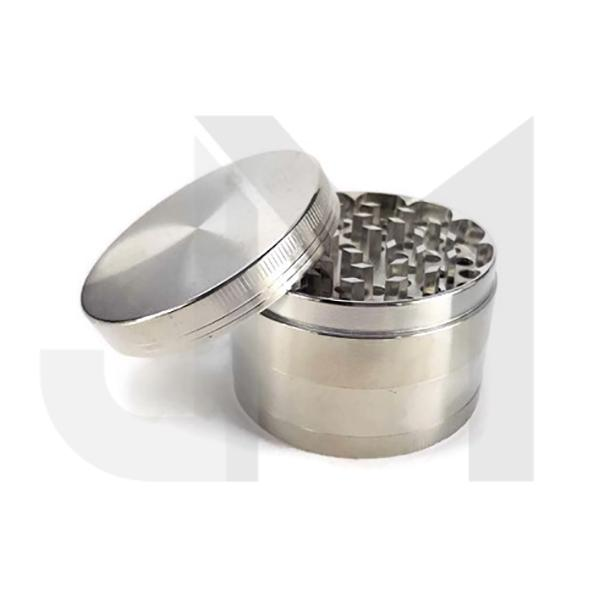 4 Parts Automatic Metal Silver 60mm Grinder - HX863PB-4