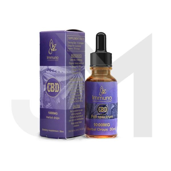 Immuno Leaf 1000mg CBD Premium Organic Hemp Seed Oil 30ML