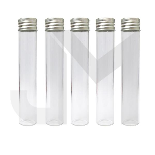 Glass Tube Joint Holder - with Silver Cap