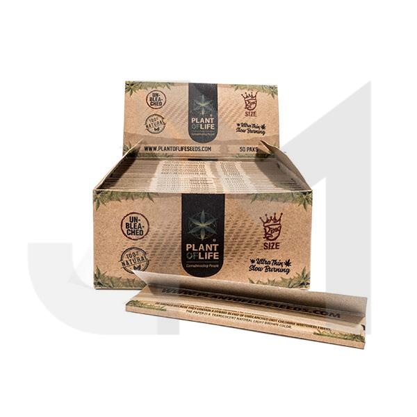 Plant of Life King Size Papers Organic Hemp Unbleached