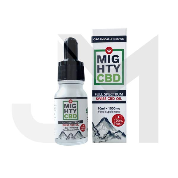 Mighty CBD 1000mg Full Spectrum Swiss CBD Oil 10ml