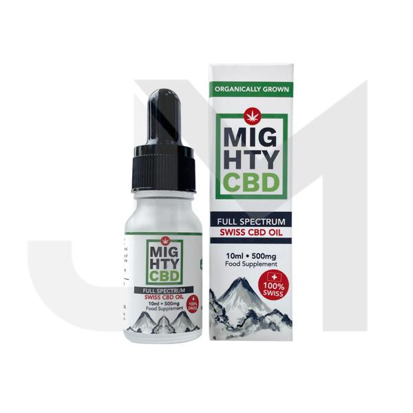Mighty CBD 500mg Full Spectrum Swiss CBD Oil 10ml
