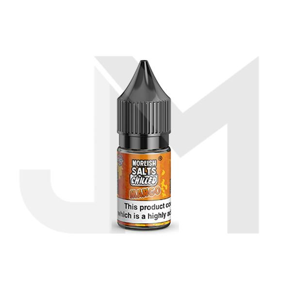 20MG Moreish Puff Salts Chilled 10ML Flavoured Nic Salts (50VG/50PG)