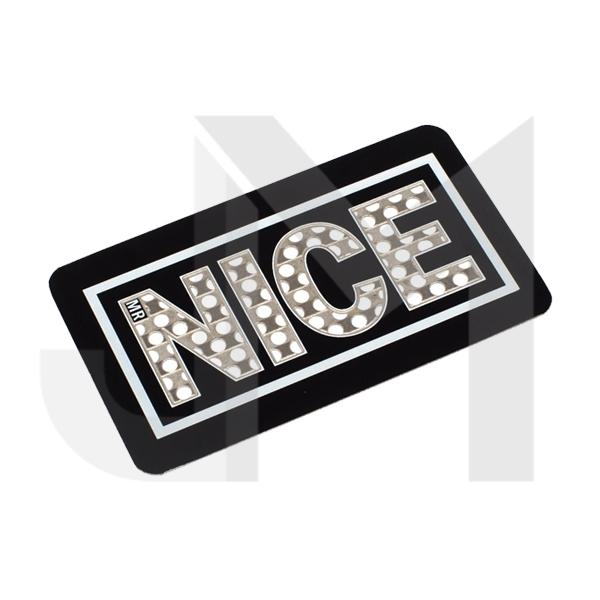 Mr Nice Stay Nice Grinder Card - Black