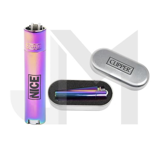 Mr Nice Logo Metal Clipper Lighter - Rainbow