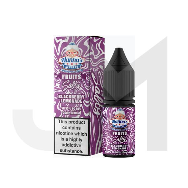 20mg Nanna's Secret Fruits 10ml Flavoured Nic Salt (50VG/50PG)