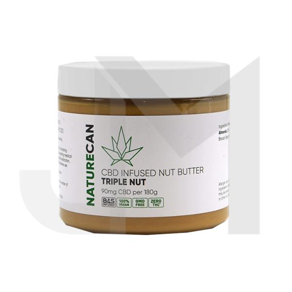 Naturecan 90mg CBD 180g Nut Butter Triple Nut