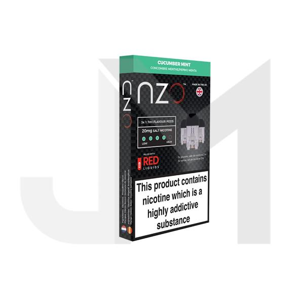 NZO 20mg Salt Cartridges with Red Liquids Nic Salt (50VG/50PG)
