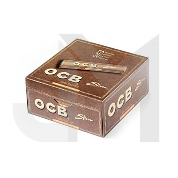 50 OCB Virgin King Size Unbleached Rolling Papers