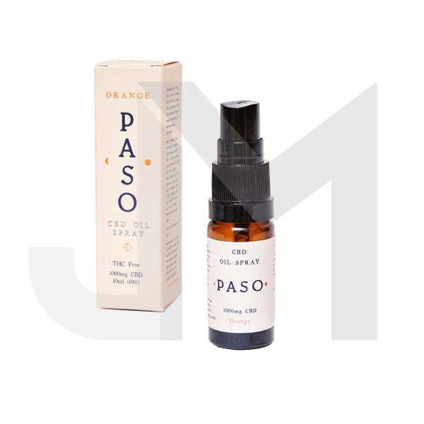 Paso 1000mg CBD Oral Oil Spray 10ml