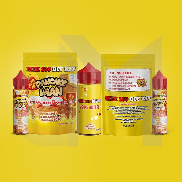 Pancake Man Strawberry Pancakes DIY Mix Kit 180ml