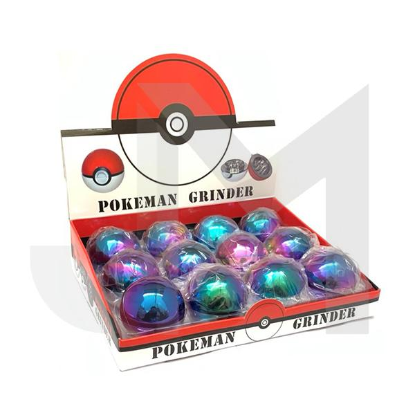 12 x 3 Parts Pokeman Metal Rainbow Grinder - HX078XC