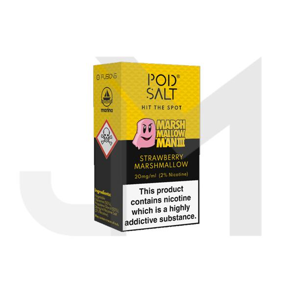 20mg Pod Salt Fusion -  10ml Flavoured Nicotine Salt (50VG/50PG)