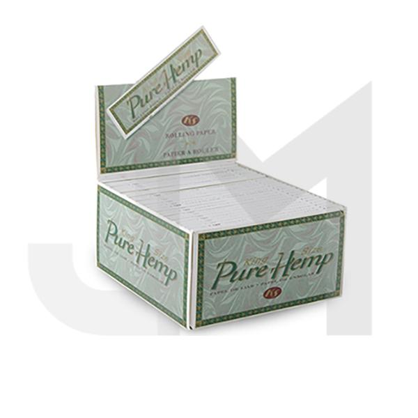 50 Pure Hemp King Size Un-Bleached Rolling Papers