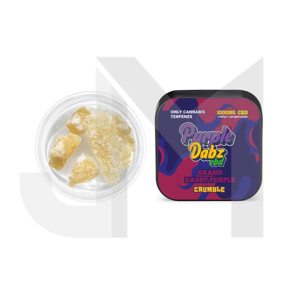 Purple Dabz by Purple Dank 1000mg CBD Crumble - Grand Daddy Purple