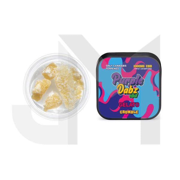 Purple Dabz by Purple Dank 1000mg CBD Crumble - Gelato
