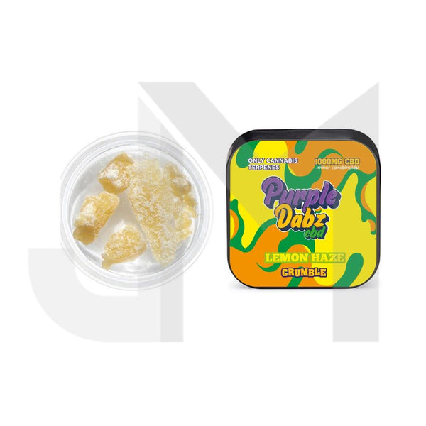 Purple Dabz by Purple Dank 1000mg CBD Crumble - Lemon Haze