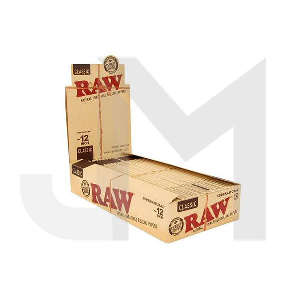 20 Raw Classic Supernatural 12 Inch Rolling Papers