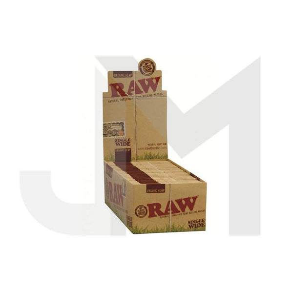 50 Raw Single Wide Organic Hemp Rolling Papers