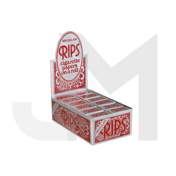 24 - Rips Red Regular Rolling Papers