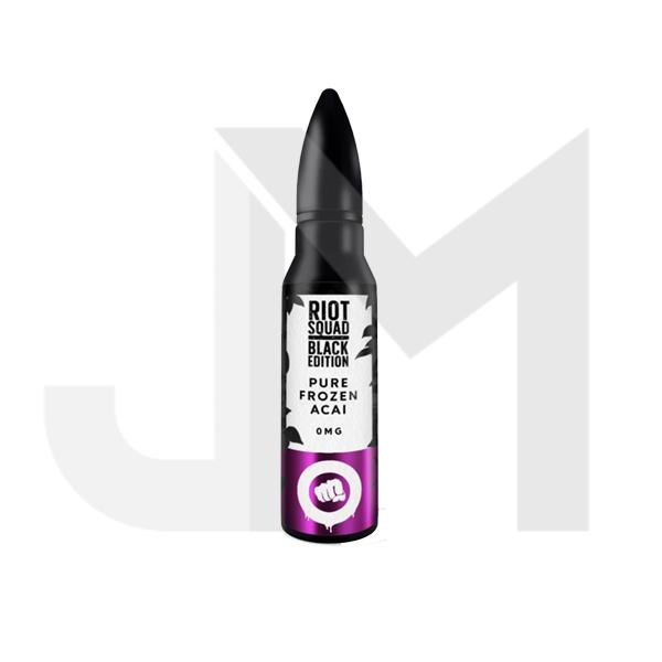 Riot Squad Black Edition Range 0mg 50ml Shortfill (70VG/30PG)