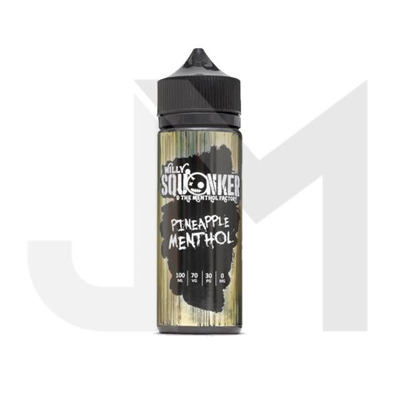 Willy Squonker and the Menthol Factory 0mg 100ml Shortfill (70VG/30PG)