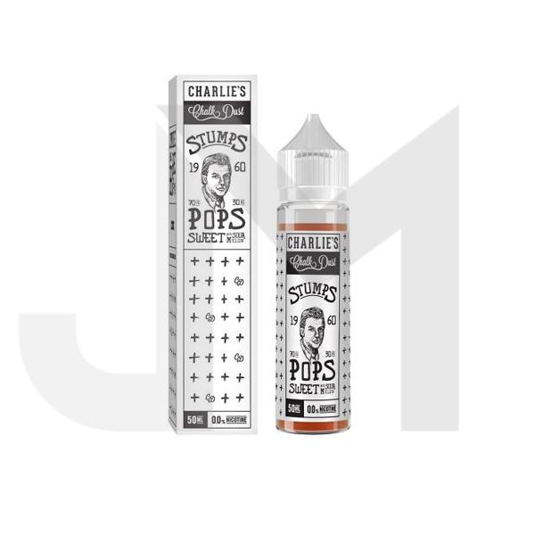 Charlie's Chalk Dust Stumps Range 50ml Shortfill 0mg (70VG/30PG)